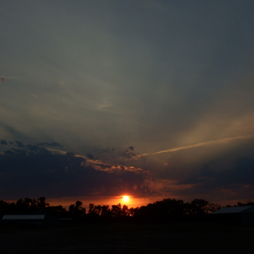 Sunset over the fairgrounds