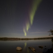 Aurora over the lake