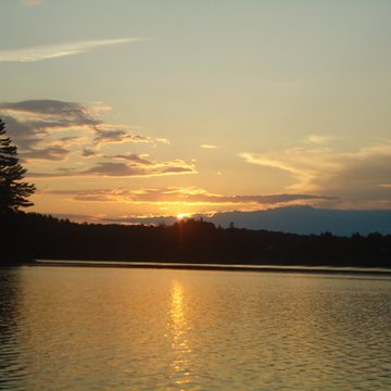 Sunset over Lake Blackwater, Parry Sound