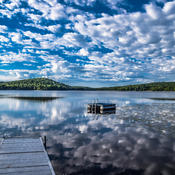 Summer Clouds Reflection