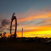 Sunset at Stirling Fair