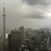 Stormy Weather over Downtown Toronto