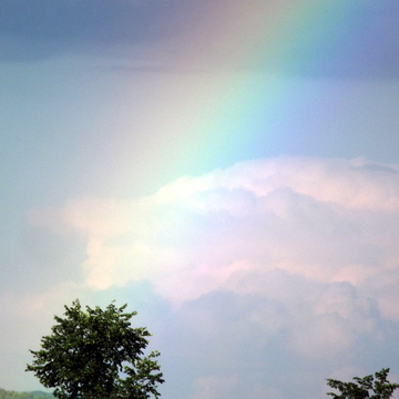 rainbow on a cloud