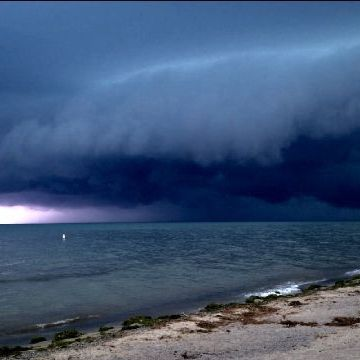 Storm today on Lake Erie near Amherstburg Ontario