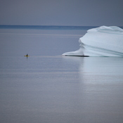 Iceberg and Kayak