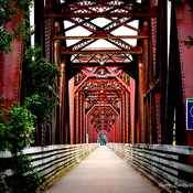Walking bridge. Fredericton, N.B.
