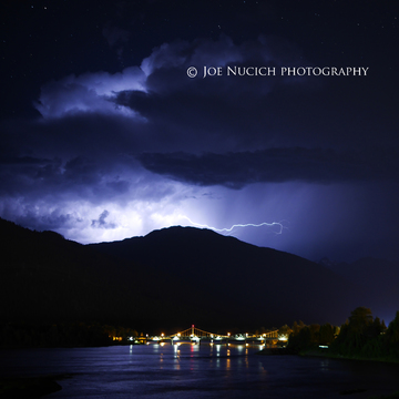 Lightning over Mt. Copeland, Revelstoke, B.C.