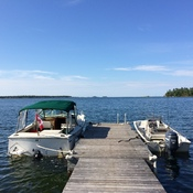Dock on Wahsoune Island, Georgian Bay Ontario
