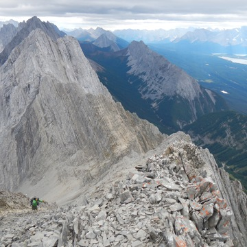 A challenging, but rewarding scramble to the summit of Mt Hood, Kananaskis
