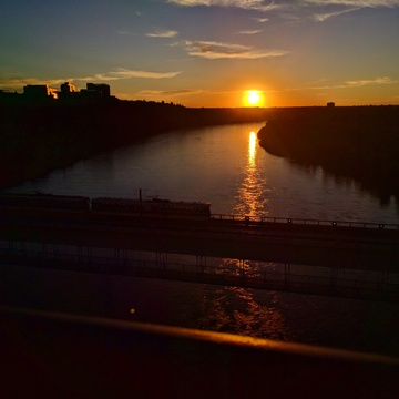 sunset at river =<3