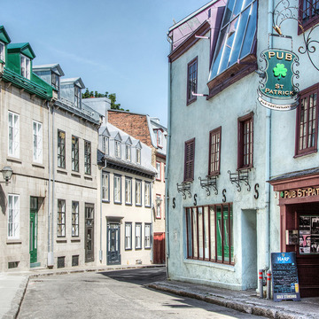 Old Quebec city and Ile d'Orleans