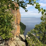Devils Rock on Lake Temiskaming