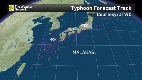 News Typhoon Malakas To Bring Dangerous Flooding To Japan The