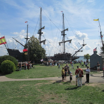 Crowds Looking AT Tall Ships In Brockville
