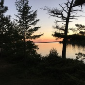 Rainy lake Fort Frances Ontario Sunset County