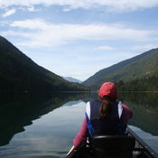 Canoeing on Nahatlatch Lake, Nahatlatch Provincial Park, B.C.