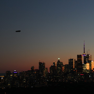 Blimp in Toronto