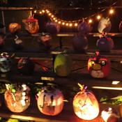 Pumpkin Walk- at the Scarecrow Festival
