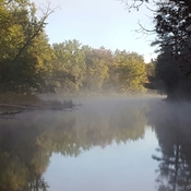 Mist on York River