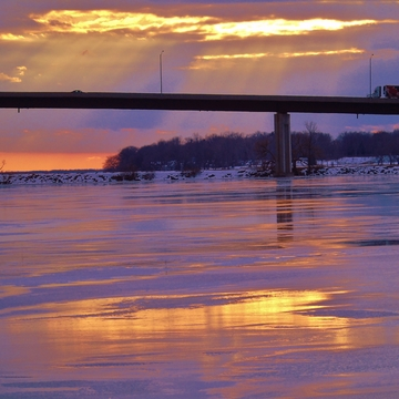 Febuary Cold Day on the Bay of Quinte Belleville
