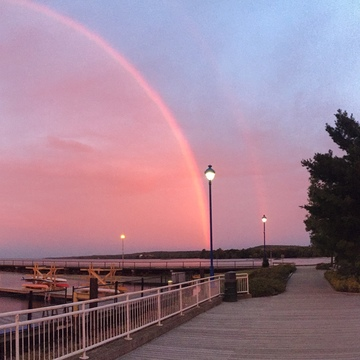 North Bay waterfront rainbow September 26
