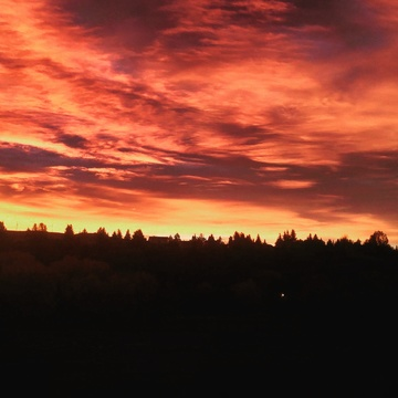 sunrise in cochrane alberta