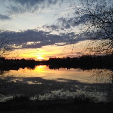Sunset at Jones Lake.