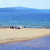 SANDY BEACH LAKE SUPERIOR ONTARIO CANADA