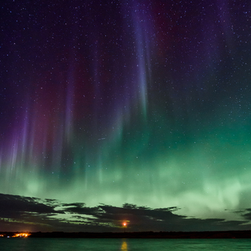 Northern Lights as seen from Regina Beach