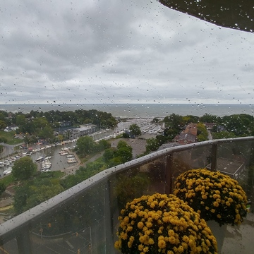 oakville ontario from my balconey. during rsin and wind storm