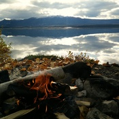 Fall afternoon, Little Atlin Lake.
