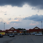 Cloudy evening in Ajax