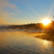 Sunrise on Maple Lake
