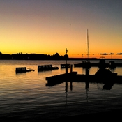 Sunrise over Kingston Harbour