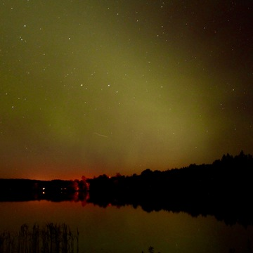 Northern Lights above Lake Clementi, Manitoba