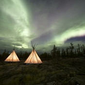 Aurora Storm over the Tee Pee