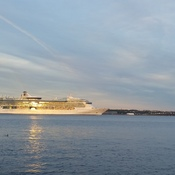 cruise ship leaving the halifax harbour