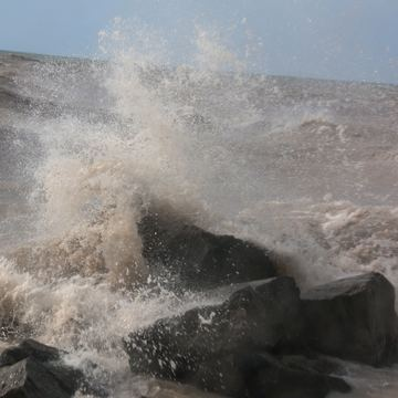 A little rough at Port Stanley yesterday