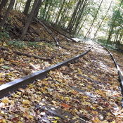 Abandoned rails in Milton