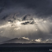 Dramatic skies over northern Vancouver Island