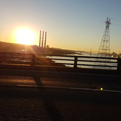 Sunrise over the Mackay Bridge