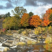 Hogs Back Waterfalls in Fall colours