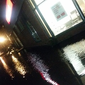 Scotiabank parkinglot underwater
