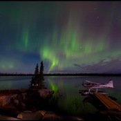Northern Lights over a northern lake