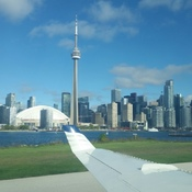 Flying up around Toronto Island