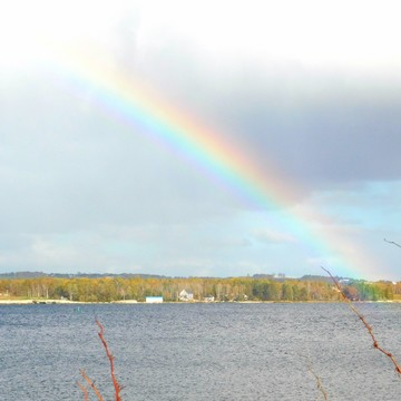 Rainbow Over Western Shore, N.S. Oct. 23