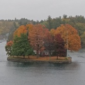 Fall colors on the St. Lawrence