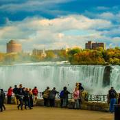 Tourists in Niagara Falls