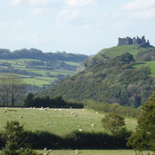 A steep climb on a very windy day! Carreg Cennen Castle, Carmarthenshire, Wales