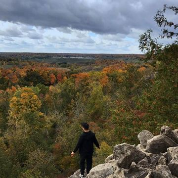 Fall colours from Rattlesnake Point.